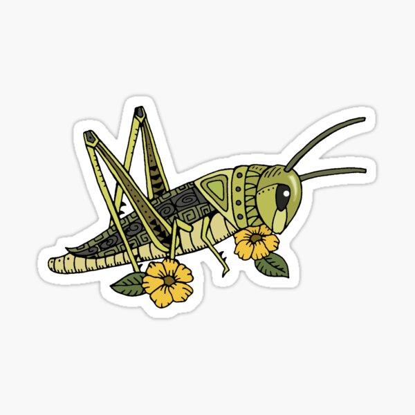 Lucky Grasshopper Sticker