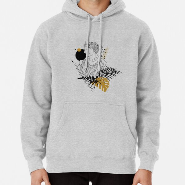 Artemis (Diana). Creative Illustration In Geometric And Line Art Style Pullover Hoodie