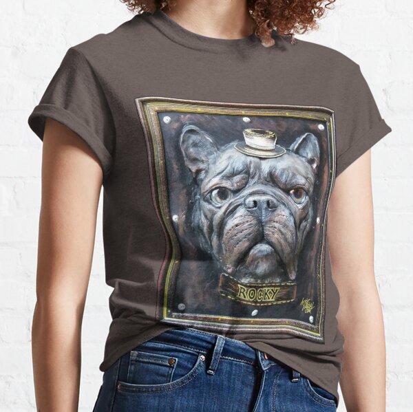 French Bulldog Rocky Sculpture Artwork Dog Frenchie Classic T-Shirt