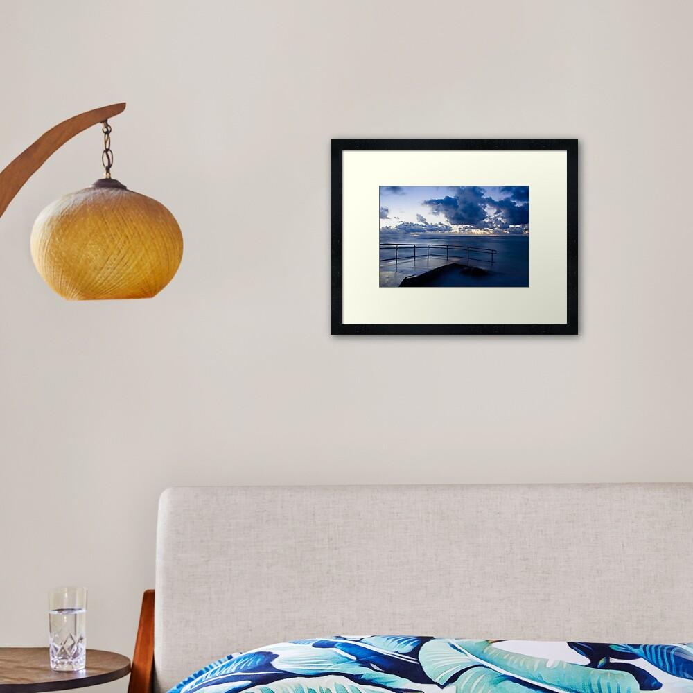 Mettam's Deep Blue Framed Art Print