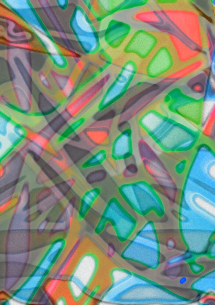 Colorful Abstract Stained Glass by MEDUSA GraphicART