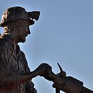 Cobar Miner - Cobar NSW Australia by Phil Woodman