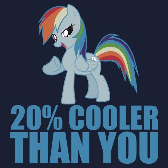 TShirtGifter presents: Rainbow Dash: 20% Cooler Than You