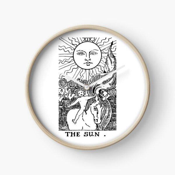 The Sun tarot card deck  Clock