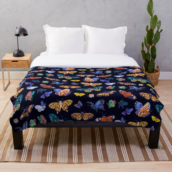 Butterflies Day Throw Blanket