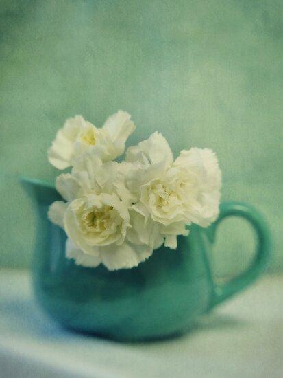 carnations in a jar by Priska Wettstein