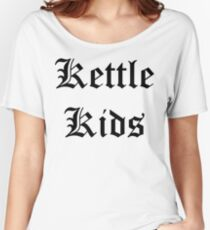 Kettle Kids Old English Women's Relaxed Fit T-Shirt