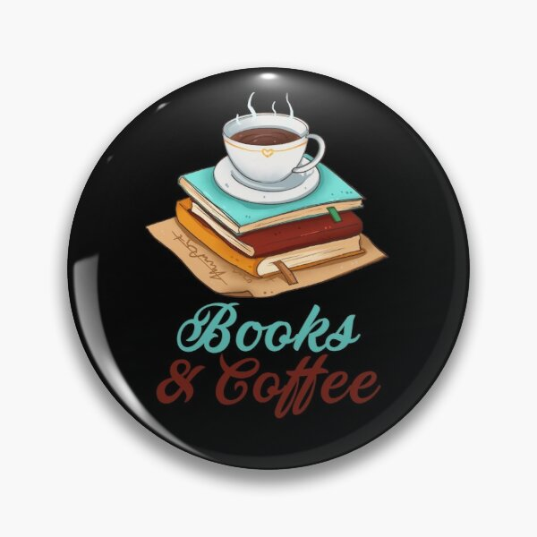 Books And Coffee Pin