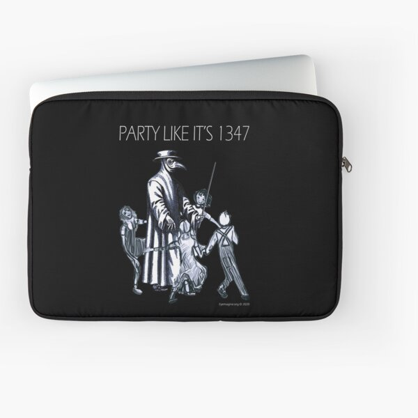Party Like It's 1347 Again Laptop Sleeve