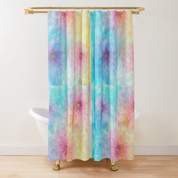 Pastel Dream With Dahlias Shower Curtain