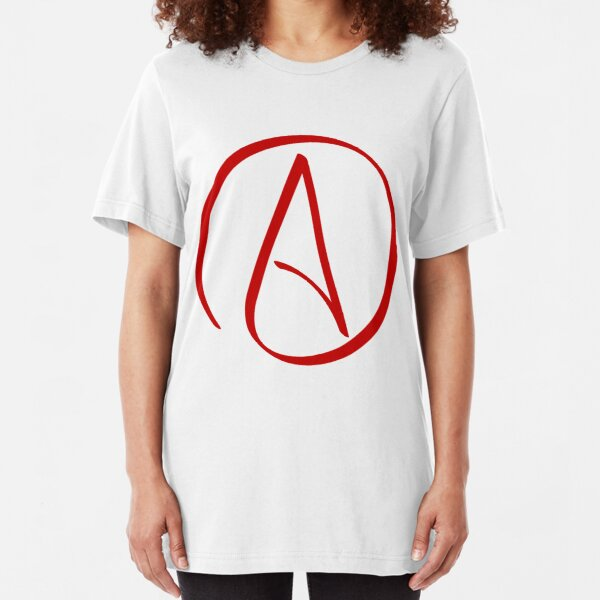 Atheist Symbol Slim Fit T-Shirt