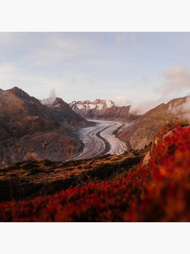 Glacier in Switzerland by marinaweishaupt