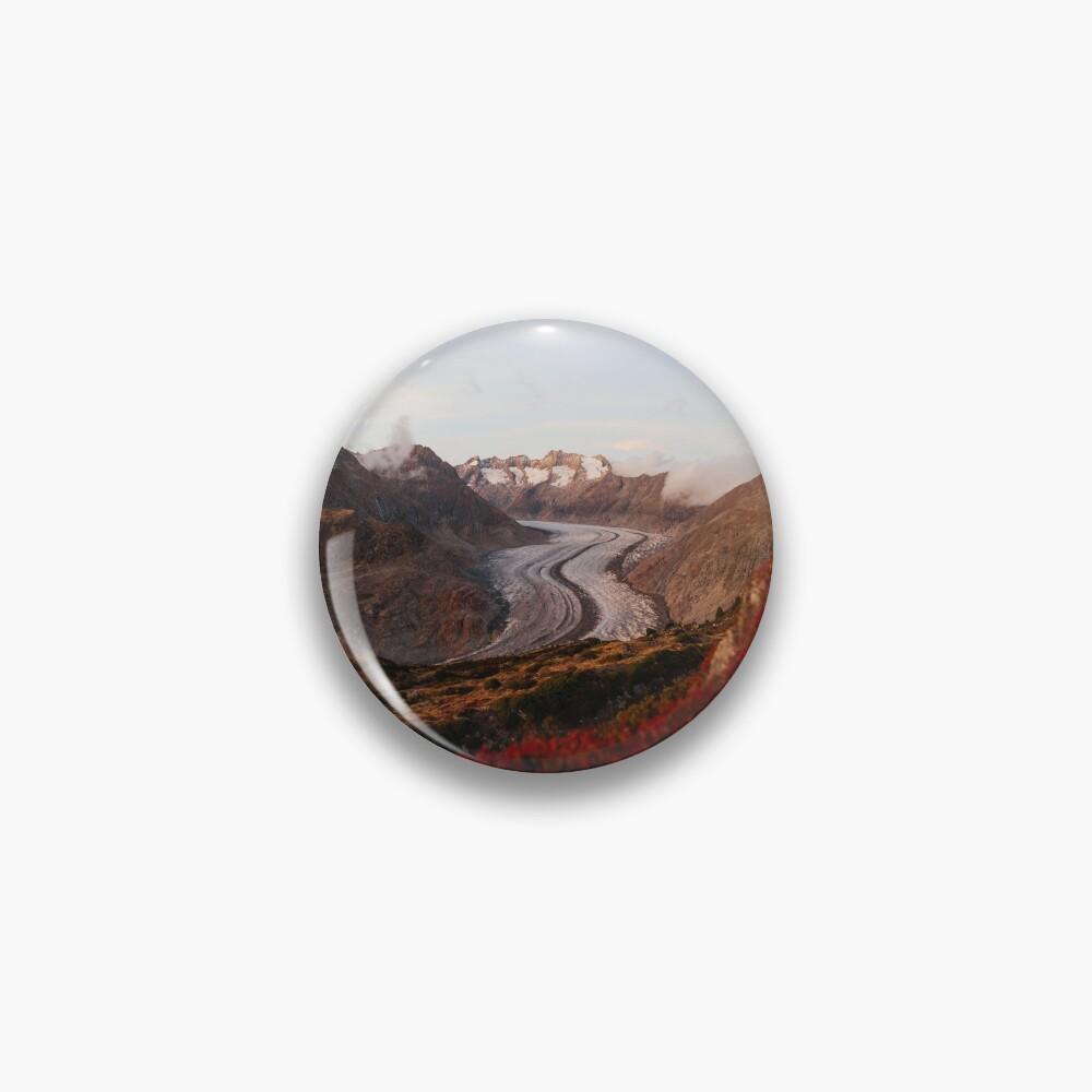 Glacier in Switzerland Pin