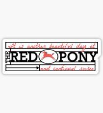 The Red Pony Sticker