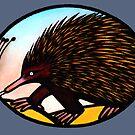Australian Echidna - Print & Cards by Kim  Lynch