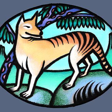 Tasmanian Tiger - prints & cards by lynchmob