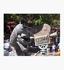 Fozzy Bear Statue Photographic Print