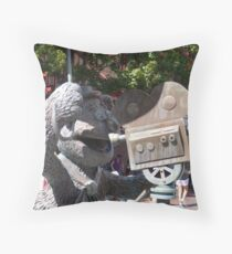 Fozzy Bear Statue Throw Pillow