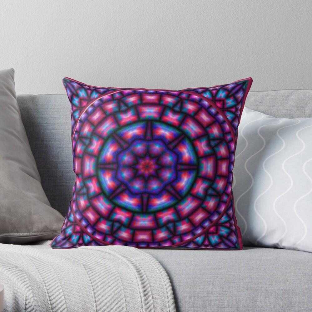 Krazy Kaleidoscope 1006 Throw Pillow