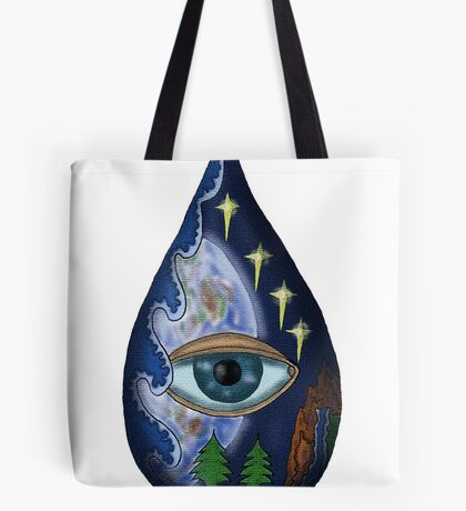 Fragile World surreal drawing  Tote Bag