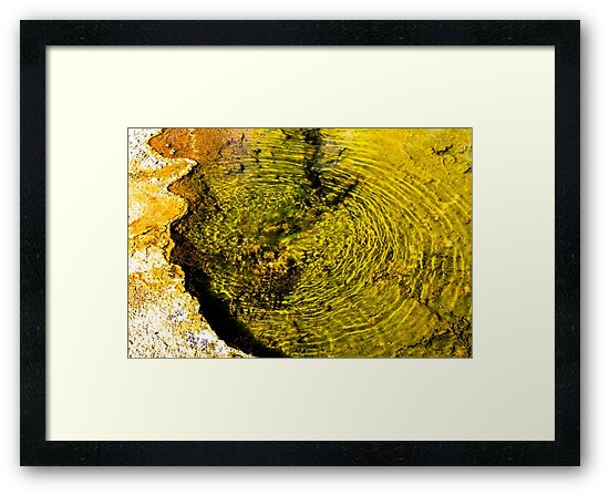 Hot spring at Yellowstone by Thaddeus Zajdowicz