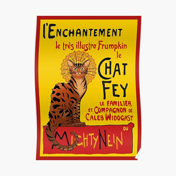 Le Chat Frumpkin Poster