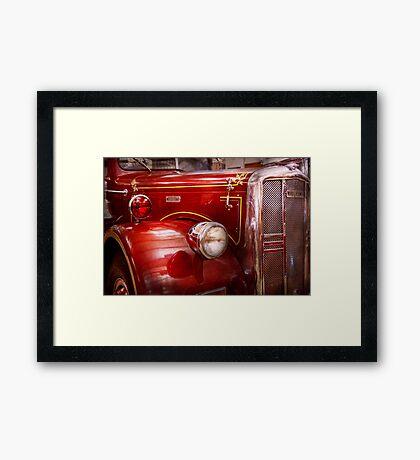 Fireman - Ward La France  Framed Print