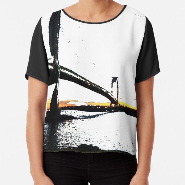 Verrazzano-Narrows Bridge is Longest Suspension Bridge in Western Hemisphere Chiffon Top