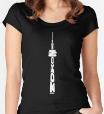 Toronto CN Tower White Women's Fitted Scoop T-Shirt