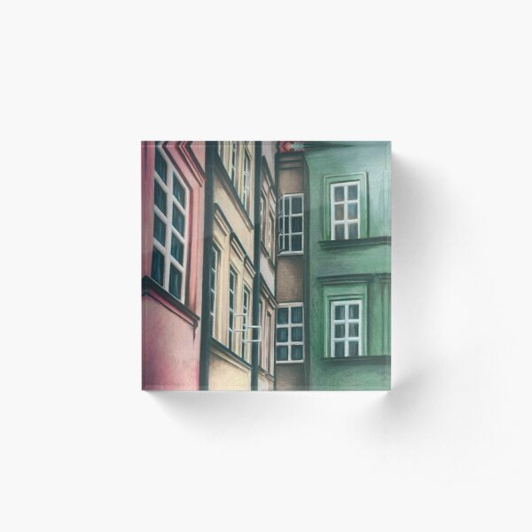 Polish Townhouses Acrylic Block
