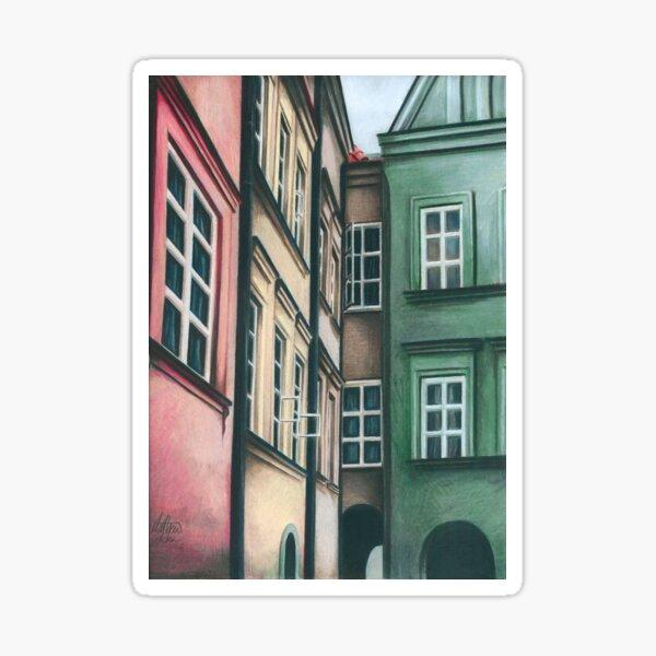 Polish Townhouses Sticker