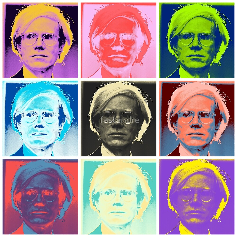 Ironic Andy Warhol inspired Andy Warhol Pop Art by fastandre
