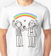 Sherlock and John: Rainbows Unisex T-Shirt