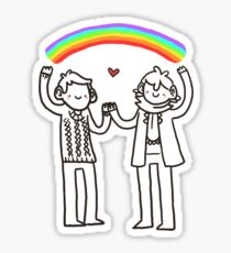 Sherlock and John: Rainbows Sticker