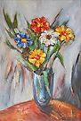 The Blue Vase by Stefano Popovski