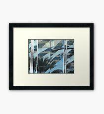 Palms in windows Framed Print