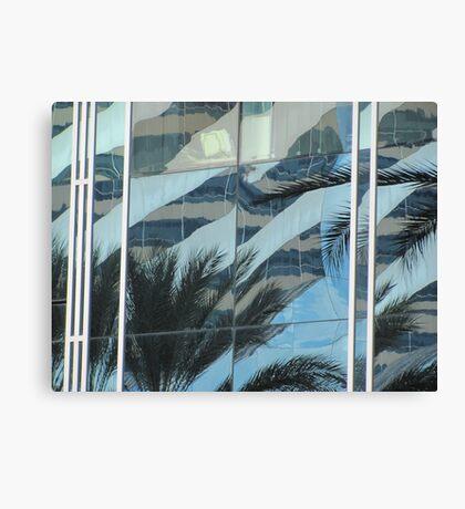 Palms in windows Canvas Print
