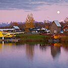 Moone Rise at Lake Hood by Tim Grams