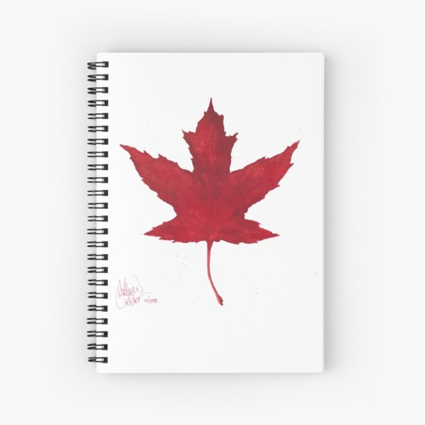 Red Leaf Spiral Notebook