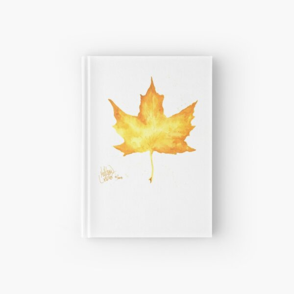 Yellow Leaf Hardcover Journal