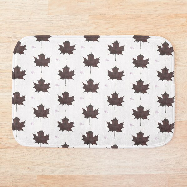 Purple Leaf Bath Mat
