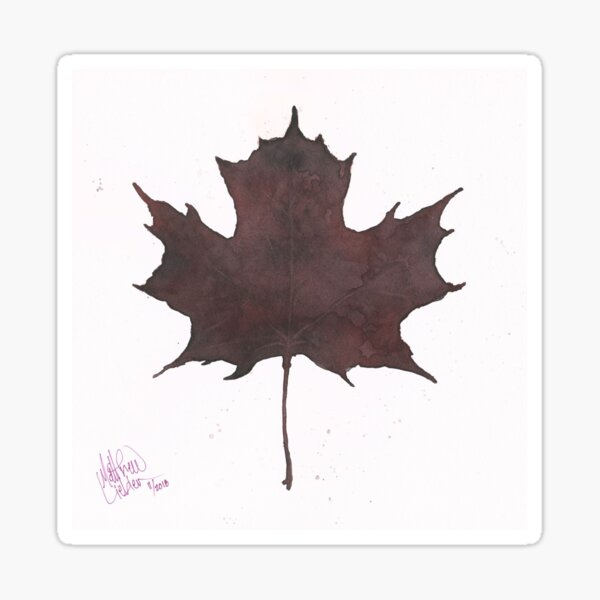 Purple Leaf Sticker