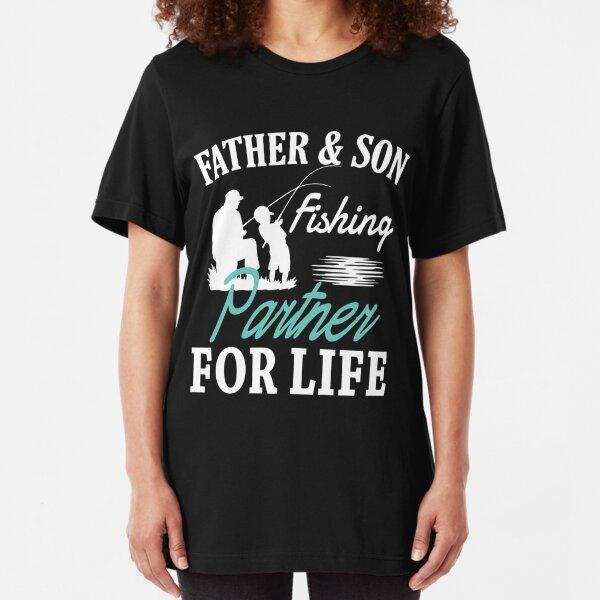 Papá el futuro de la pesca Buddy-Camiseta Personalizada Tees Ropa Unisex-Blanco