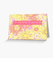 Sunshine - Lilly Greeting Card