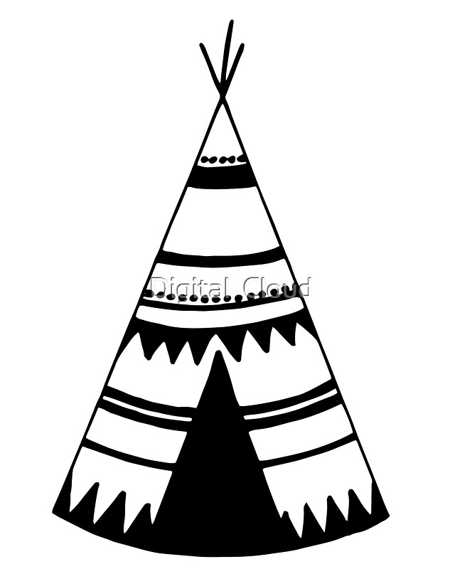 Quot Teepee Art Teepee Tent Quot Stickers By Natalie Digital