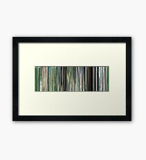 Moviebarcode: The Animatrix 7: Beyond (2003) Framed Print
