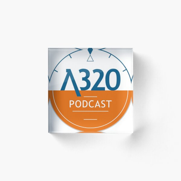 A320 Podcast Logo Acrylic Block