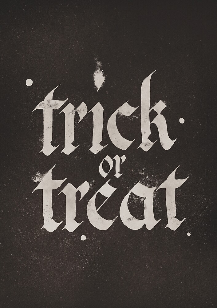 Calligraphy Trick or Treat by POP Collective