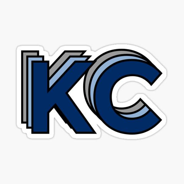 Retro KC Blue and Gray Sticker