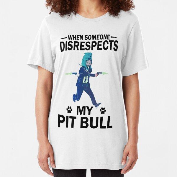 Respect Pit bull Slim Fit T-Shirt